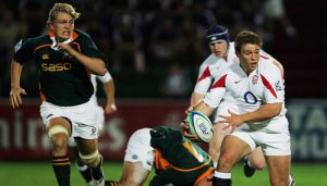 Tom Youngs in his days as a center, back in 2007. He was called up to the England Sevens side in November of that year, alongside Matt Banahan and Ben Foden.