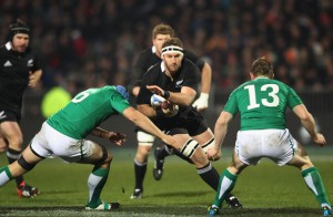 Kev McLaughlin goes in on Kieran Read in Ireland's second test against New Zealand last summer. McLaughlin had a slow start to his professional career but has been a very solid performer for Leinster since the start of the 2009-10 season.