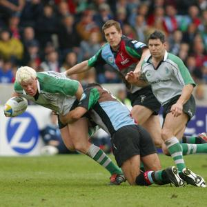 Mark McHugh for Connacht against Harlequins. That peroxide look never got old!