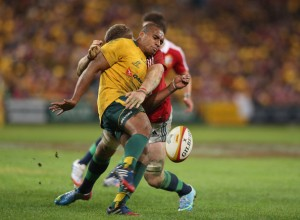 Heaslip hammers into Genia as the Australia scrum-half gets the ball away in the first test. The Lions No8 wasn't an influential figure in the second test however, and lost out in selection for the third.