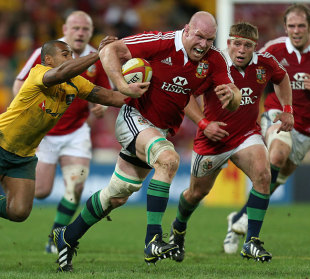 O'Connell had a massive game in the first test, and his staggering work-rate as a road-grading rucker was vital to the Lions victory. He also scrummaged with a broken arm. What a lunatic!