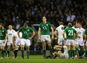 Devin Toner at the end of the English game.