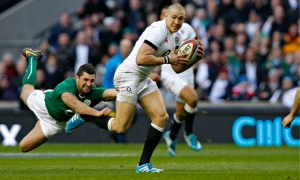 Mike Brown is bang in form and making line breaks out of nothing. Ireland tried to keep the ball away from him and concentrate their aerial attack on England's inexperienced wingers, but Brown still found a way to influence the game